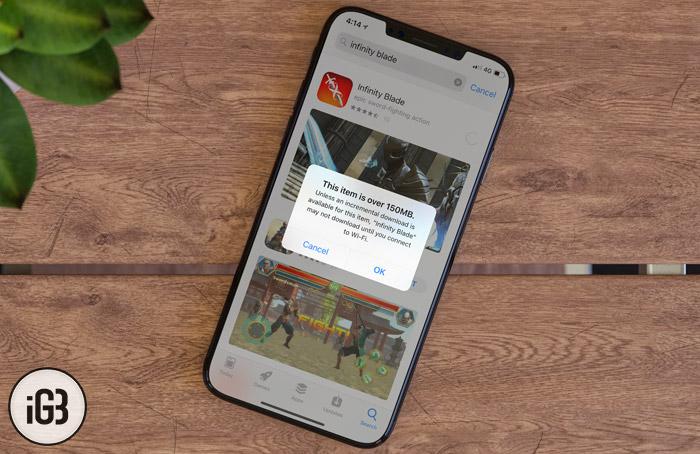 iPhone 150 MB Sınırı Kaldırma